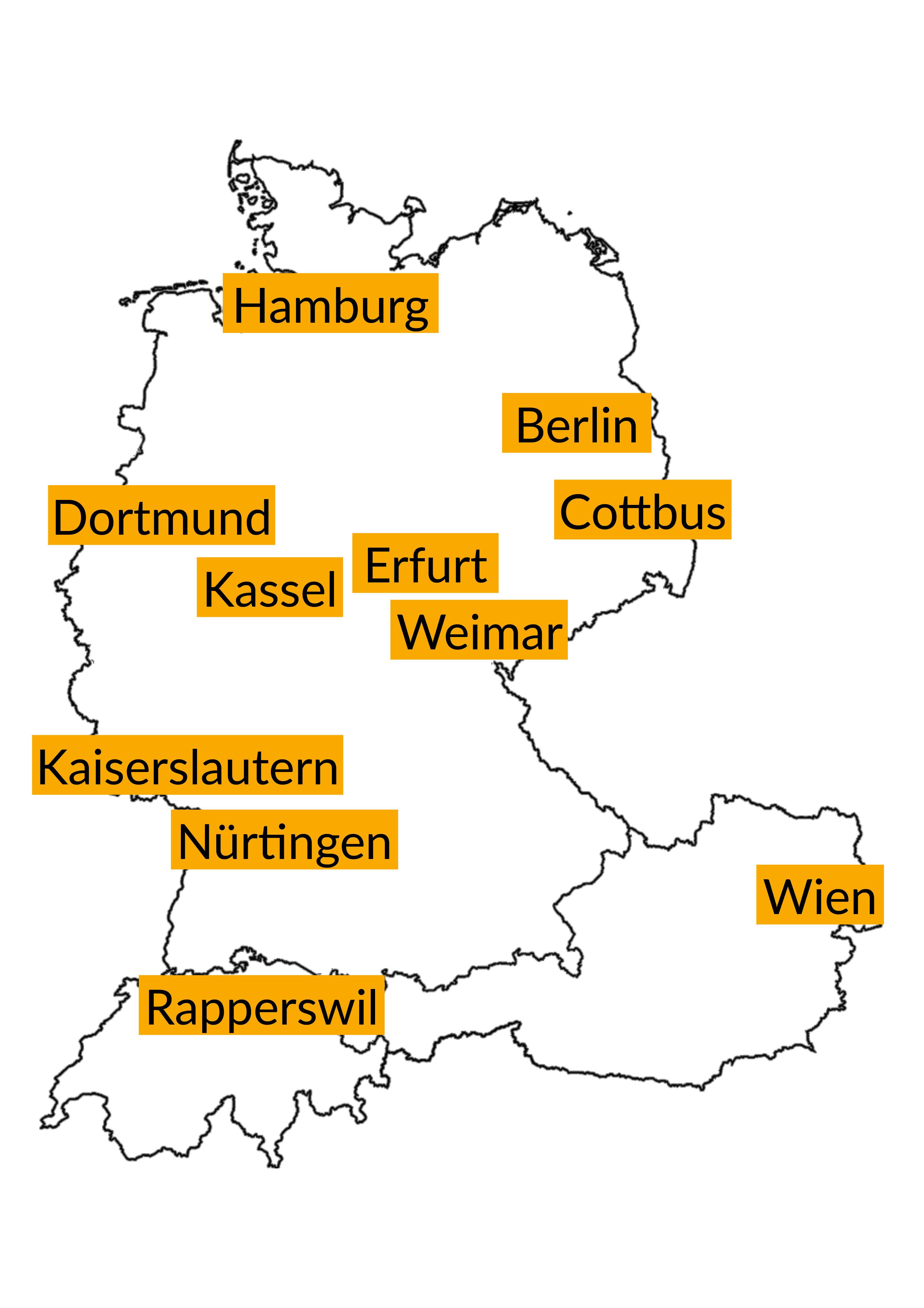 Die elf Planerschulen